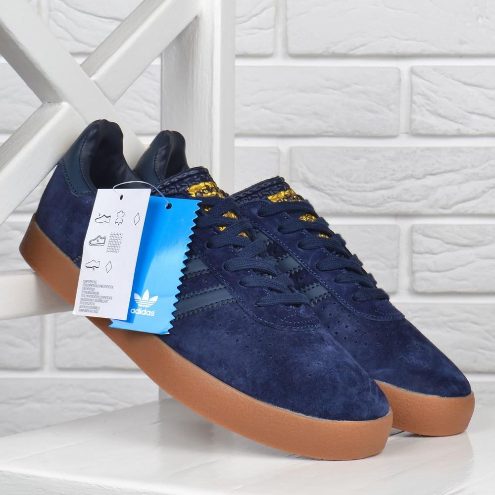 Кроссовки мужские замшевые adidas spezial темно синие вьетнам фото №1