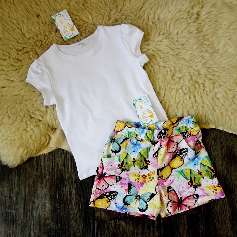Комплект футболка і шорти для дівчинки five stars фото №1