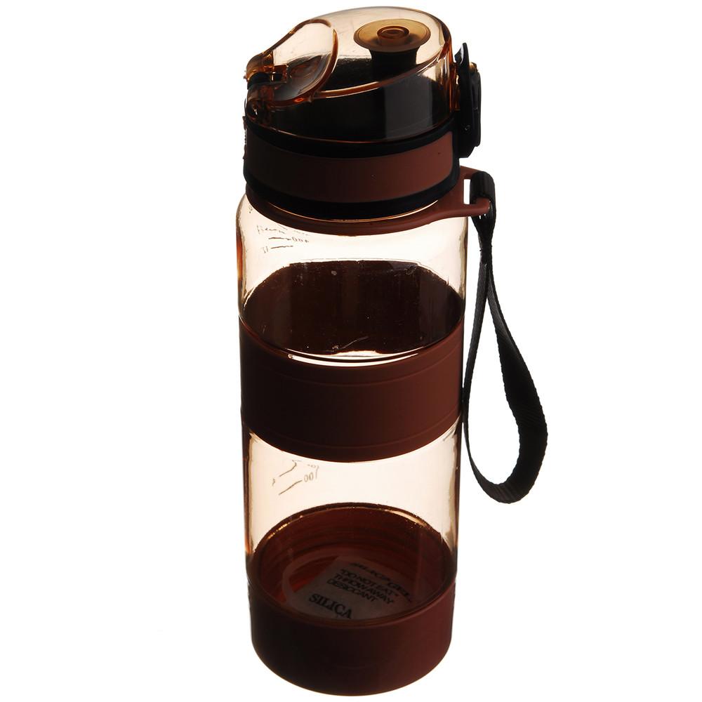 Спортивная бутылка для воды 450 мл оранжевая фото №1