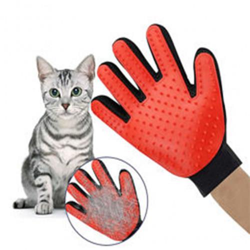 Перчатка для вычесывания котов собак перчатка для домашних животных true touch 19091 фото №1