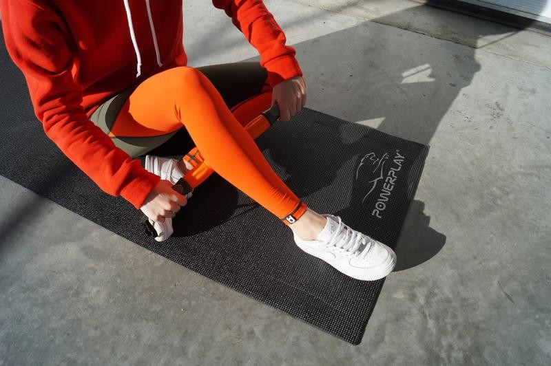Коврик для йоги и фитнеса (173*61*0.6) black фото №1
