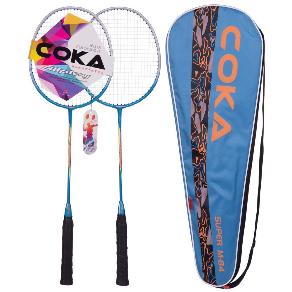 Набор для бадминтона coka bd-84 в чехле (ракетка для бадминтона): 2 ракетки фото №1