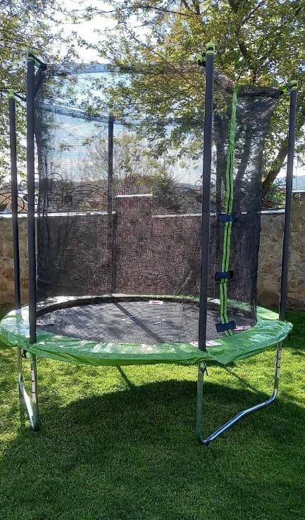 Батут quad lok 244см (8ft) диаметр с внутренней сеткой спортивный для детей и взрослых фото №1