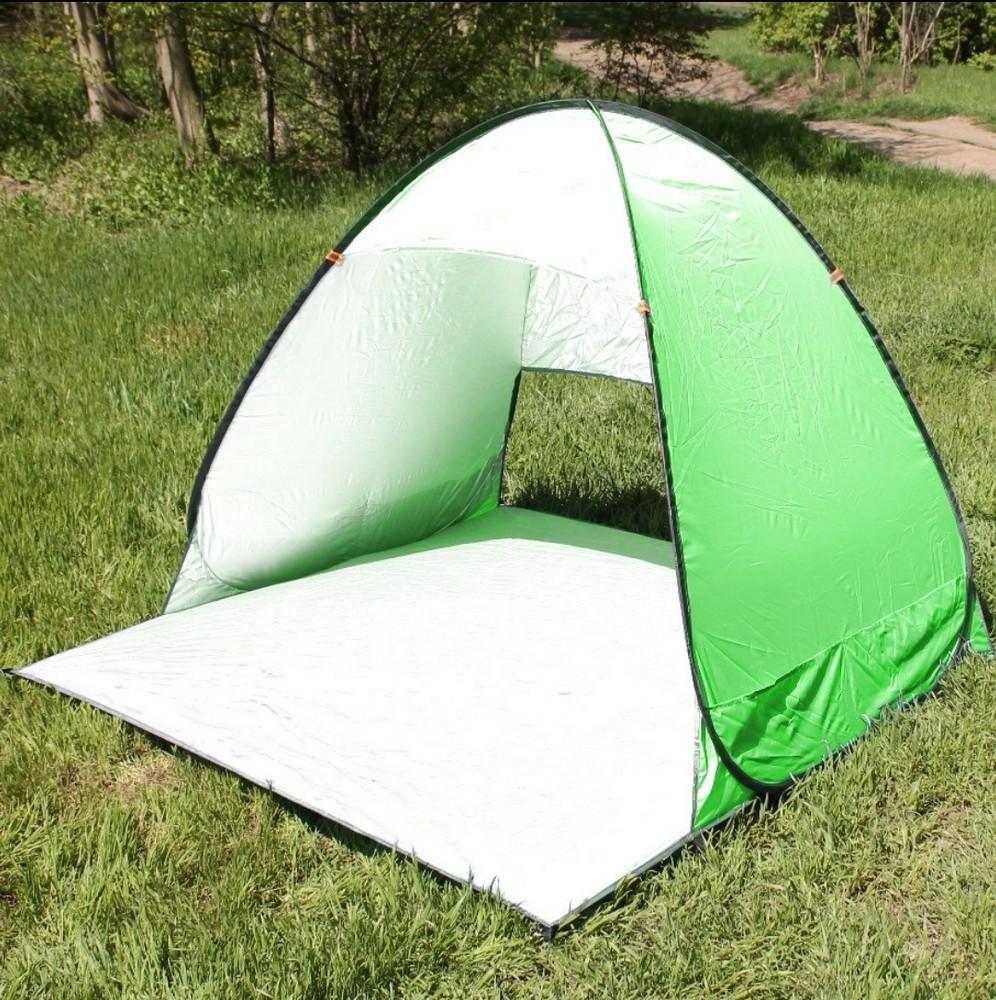 Пляжная палатка автомат 150×110×110 автоматическая саморасскладывающаяся фото №1
