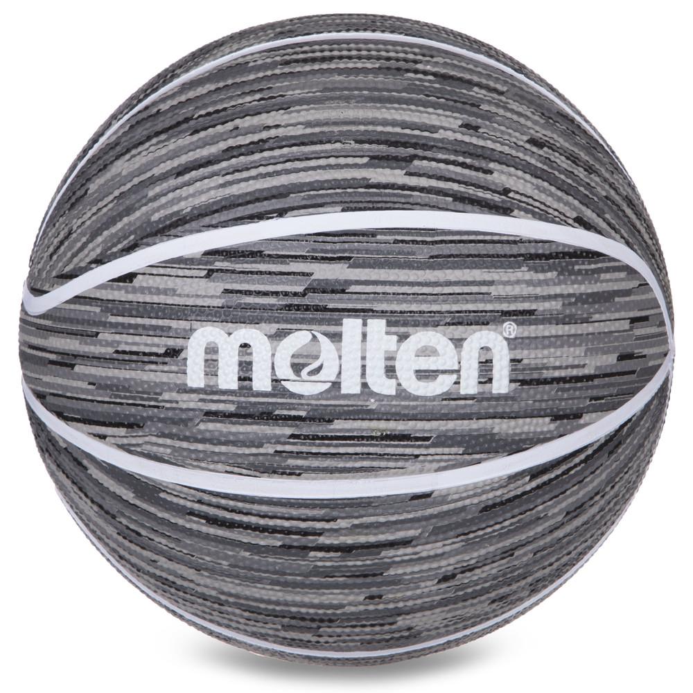 Мяч баскетбольный резиновый molten №7 b7f1600: размер №7 (grey) фото №1