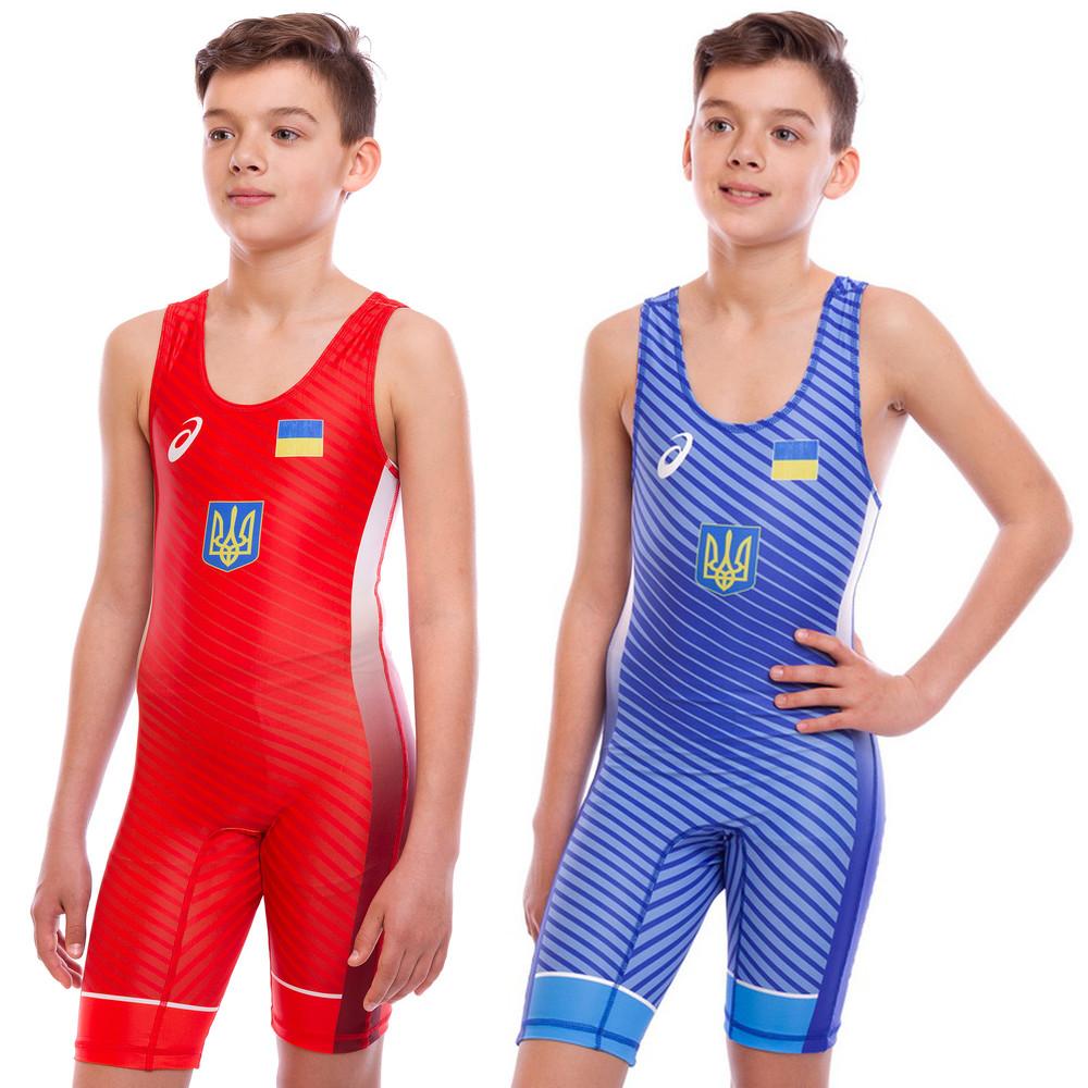 Трико для борьбы и тяжелой атлетики asics ukraine 6602: размер 120-180см (2 цвета) фото №1