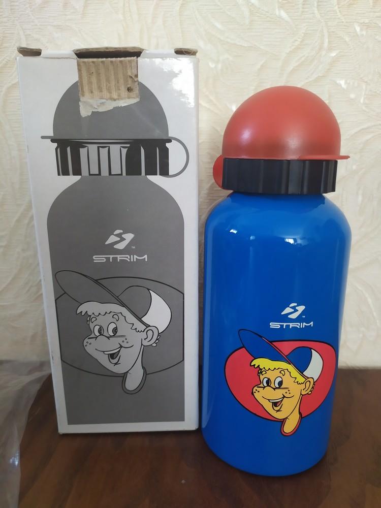 Бутылка детская алюминиевая тайвань 0.4 литра strim фото №1