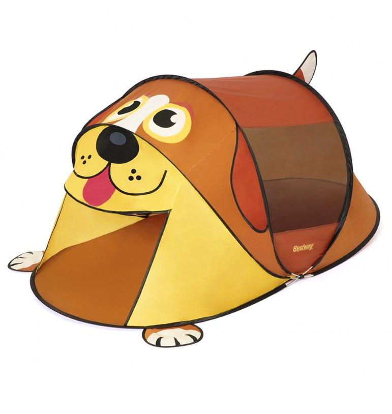 Палатка детская в виде собаки игровой домик щенок коричневая 182х81х96см фото №1