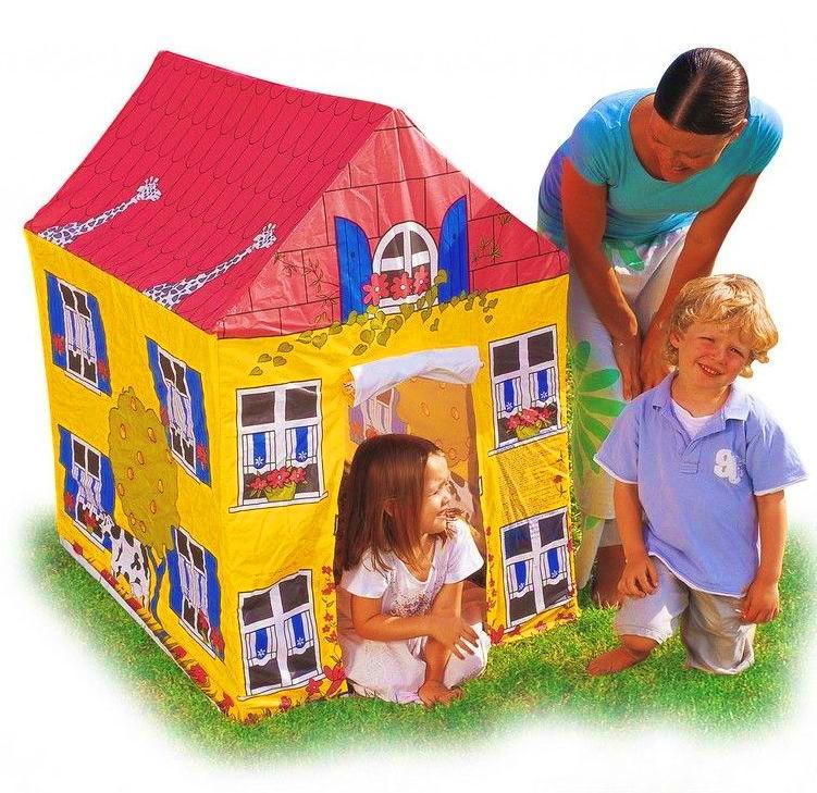 Палатка детская игровой домик желтый 102х76х114см фото №1