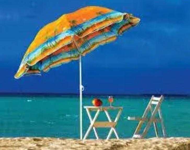 Пляжный зонт с наклоном фото №1