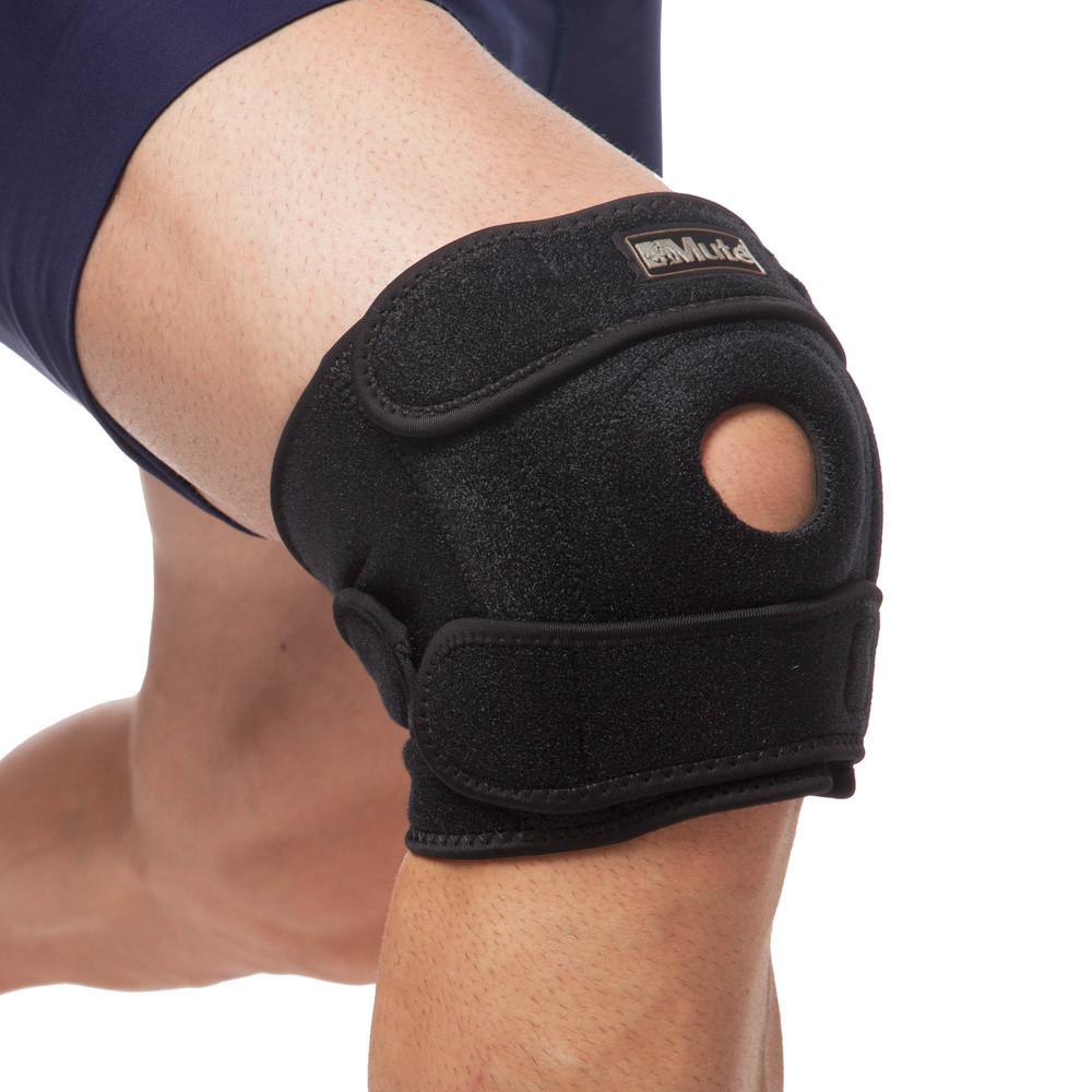 Наколенник ортез коленного сустава с эластичными ребками жесткости mute 9035: регулируемый размер фото №1