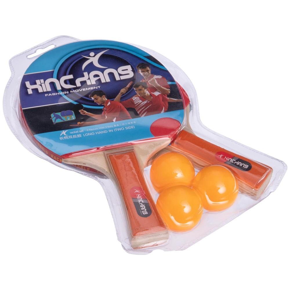 Набор для настольного тенниса hinckans mt-218: 2 ракетки + 3 мяча фото №1