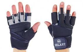 Перчатки для турника и тяжелой атлетики zelart, размер s фото №1