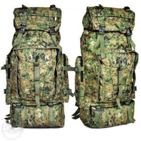Туристический, военный, походный, кемпинговый, рыбацкий, рюкзак на 75 литров, комуфляжный фото №1