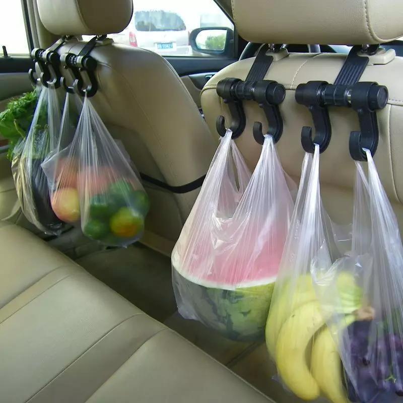 Органайзер крючок в авто для пакетов, игрушек, еды и т д фото №1