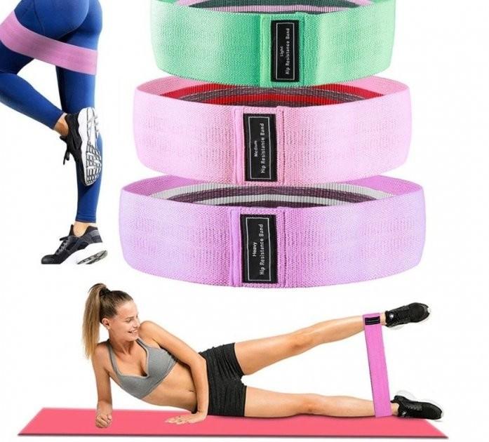 Набор тканевых резинок для фитнеса (3 шт.) фото №1